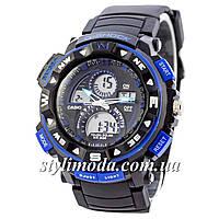 Часы наручные Casio G-Shock Twin Sensor Black-Blue (реплика)