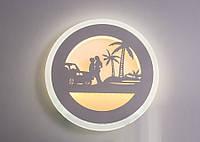 Настенный светодиодный светильник(бра) 821/220 White 18w, фото 1