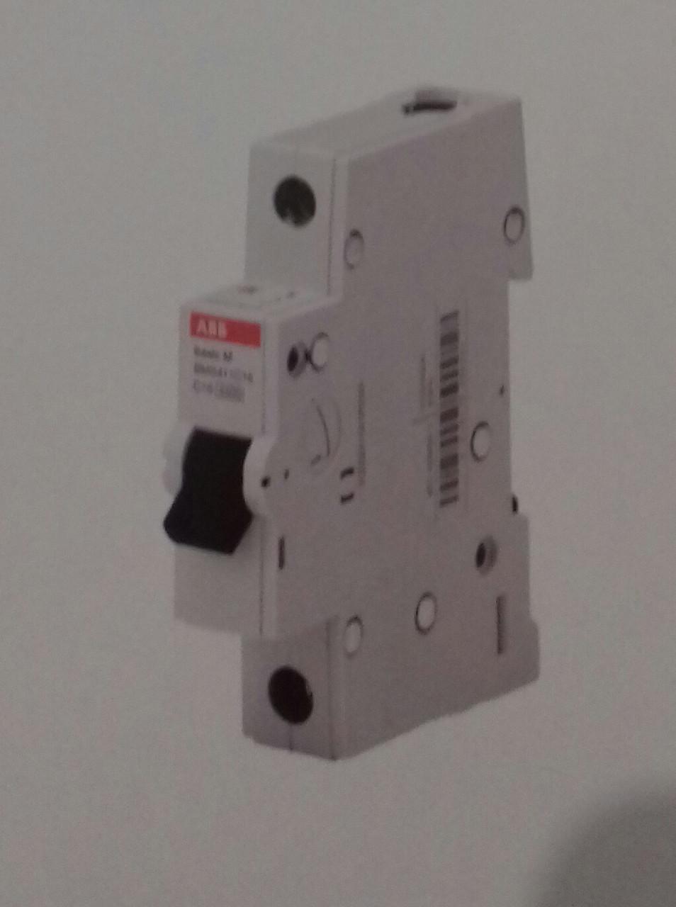 Автоматичний вимикач АВ 1р 20А, С, 4,5 кА