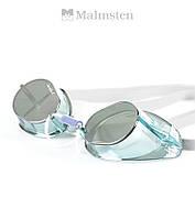 """Зеркальные очки """"шведки"""" для плавания Malmsten Swedish Jewel Tourmaline (Aqua), фото 1"""