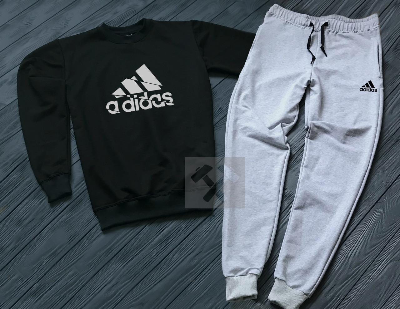 Спортивный Костюм Adidas Черного и Серого Цвета (люкс Копия) — в ... 413c8d92923