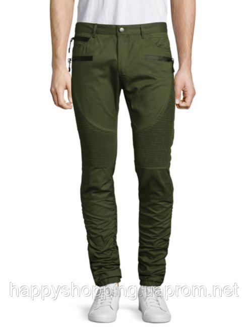 Мужские стильные молодежные оливковые брюки American Stitch