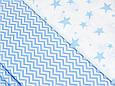 Сатин (хлопковая ткань) голубой зигзаг, фото 2