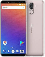 Смартфон Ulefone Power 3 6/64Gb Gold, 6080mAh, 16+5/8+5Мп, 2sim, экран 6'' IPS, 4G, Helio P23, 8 ядер