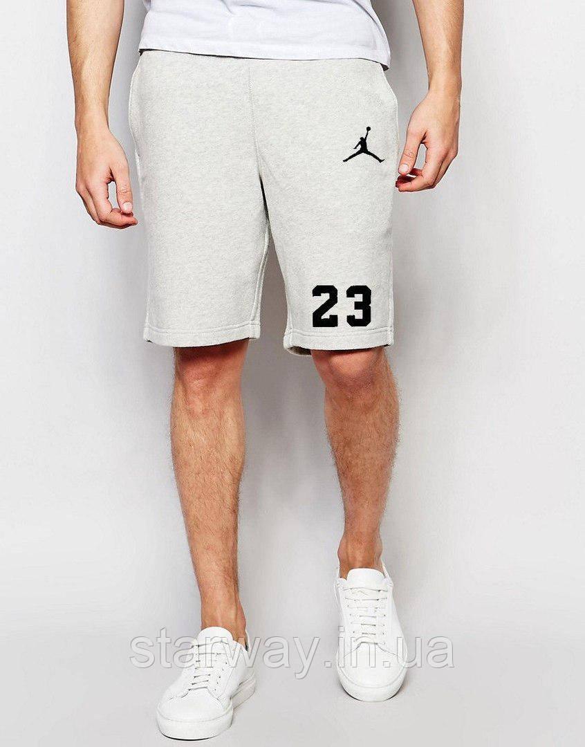 Шорты серые   принт Jordan 23