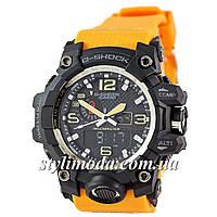 Часы наручные Casio G-Shock GWG-1000 Black-Orange Wristband (реплика)