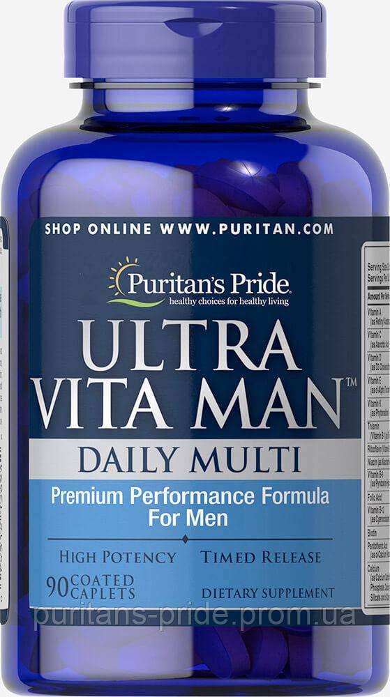 Витамины для мужчин, Puritan's Pride Ultra Vita Man™ Time Release 90 caplets