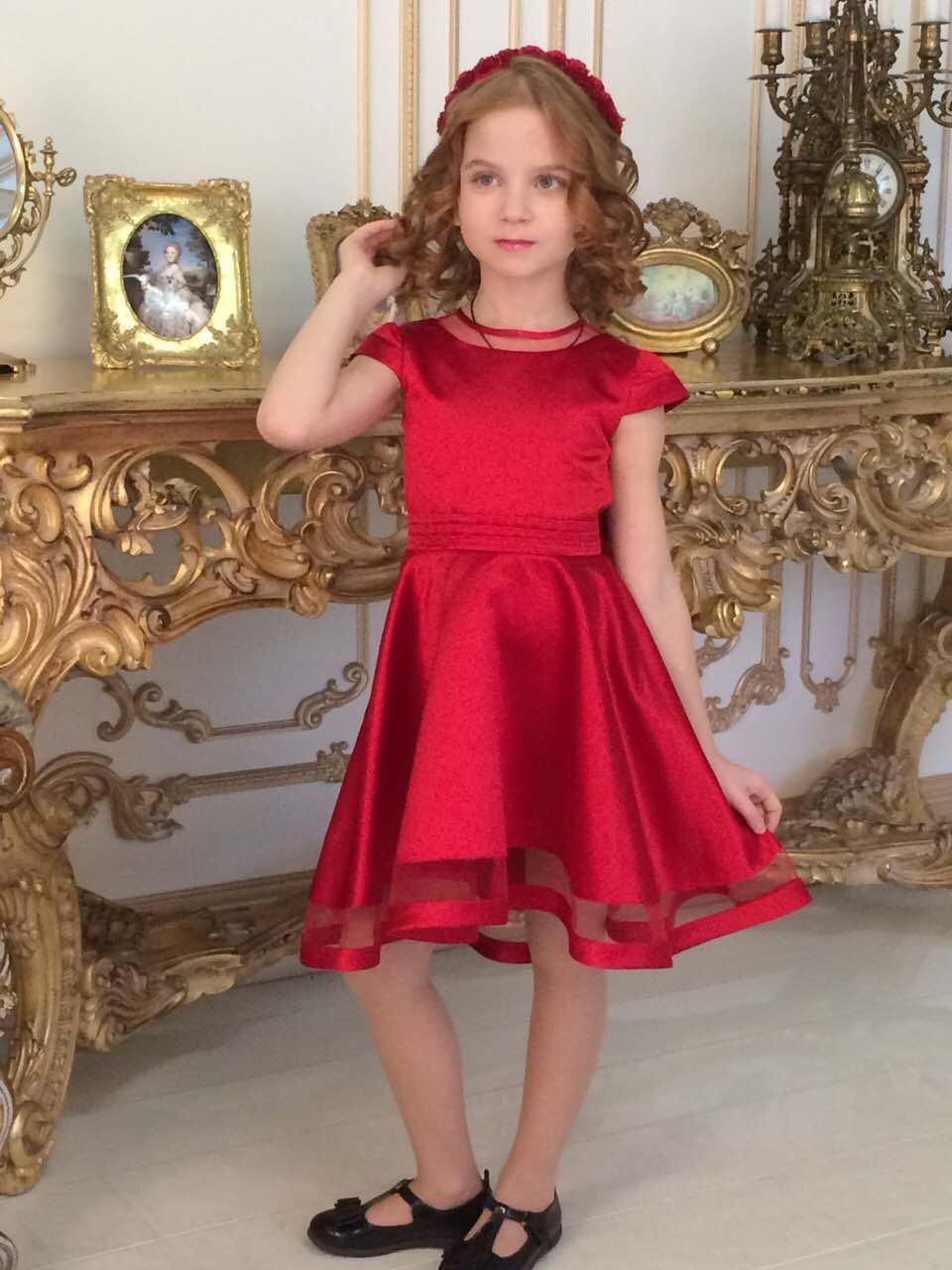 04f6fc6424a Красное нарядное платье для девочки размеры от 5 до 12 лет -