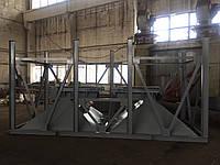 Бункер двух секционый для хранения инертных материалов с питателями, фото 1