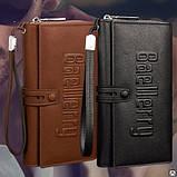 Мужской клатч портмоне Baellerry Guero (коричневый) Гуэро, фото 2