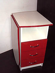 """Маникюрный стол со складывающейся столешницей """"Эстет компакт """" красный"""