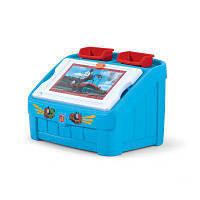 "2 в 1: комод для игрушек и поверхность для творчества ""thomas the tank. box & art"", 48х78х48см, голубой"