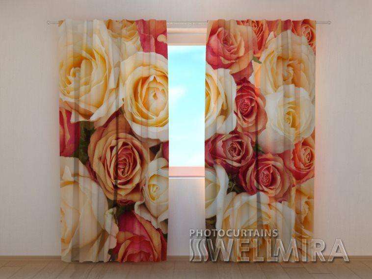 Фотошторы Карамельные розы