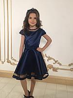 Платье синие для девочки нарядное размеры от 5 до 12 лет