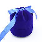 Футляр для кольца Цилиндр с лентой синий, фото 2
