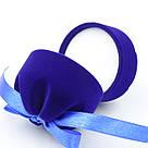 Футляр для кольца Цилиндр с лентой синий, фото 3