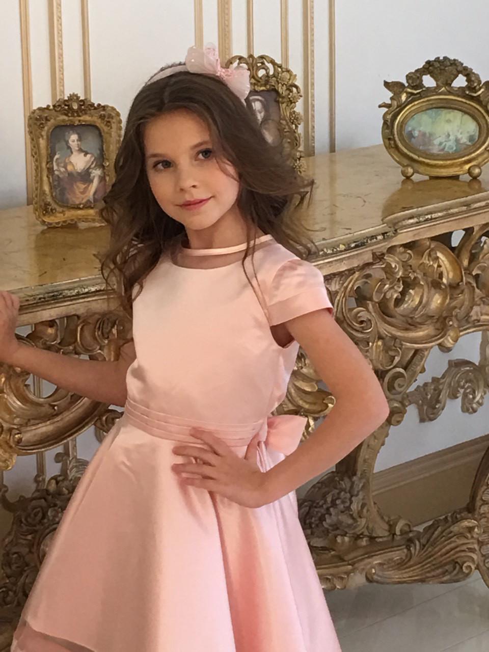 88c8cd6678d Платье для девочки нарядное цвет пудра размеры от 5 до 12 лет -