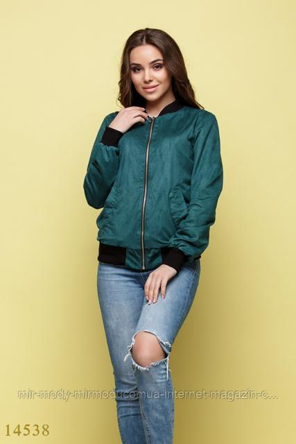 Женская куртка ветровка Ориан зеленый (млн)