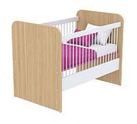 Кроватка для новорожденного под матрас 600х1200 Кв-50 Акварели розовые