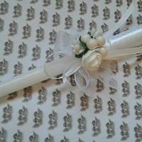 Свічка декорована квітами - 2