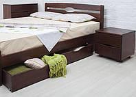 """Деревянная кровать Олимп из бука""""Нова с ящиками"""", фото 1"""