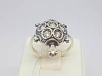 Серебряное кольцо Тортилла с фианитами. Артикул 1206, фото 1
