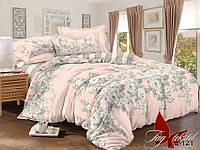 Комплект постельного белья Семейный, сатин TAG S-121