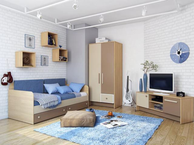 Детская комната Акварели (коричневая)