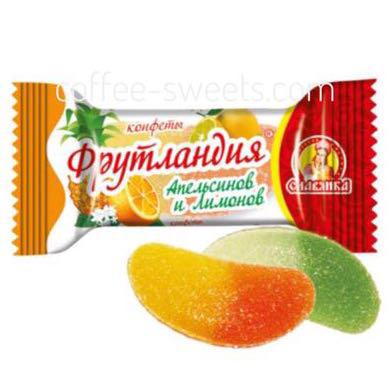 """Конфеты Славянка """"Фрутландия"""" Апельсин и Лимон"""