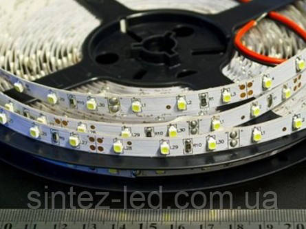 Светодиодная лента SMD 3528/60 12V белая теплая 3000K IP20 Код.52397, фото 2