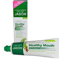 Jason Natural, Здоровье полости рта, Зубная паста, удаляющая налет и зубной камень с маслом чайного дерева и к