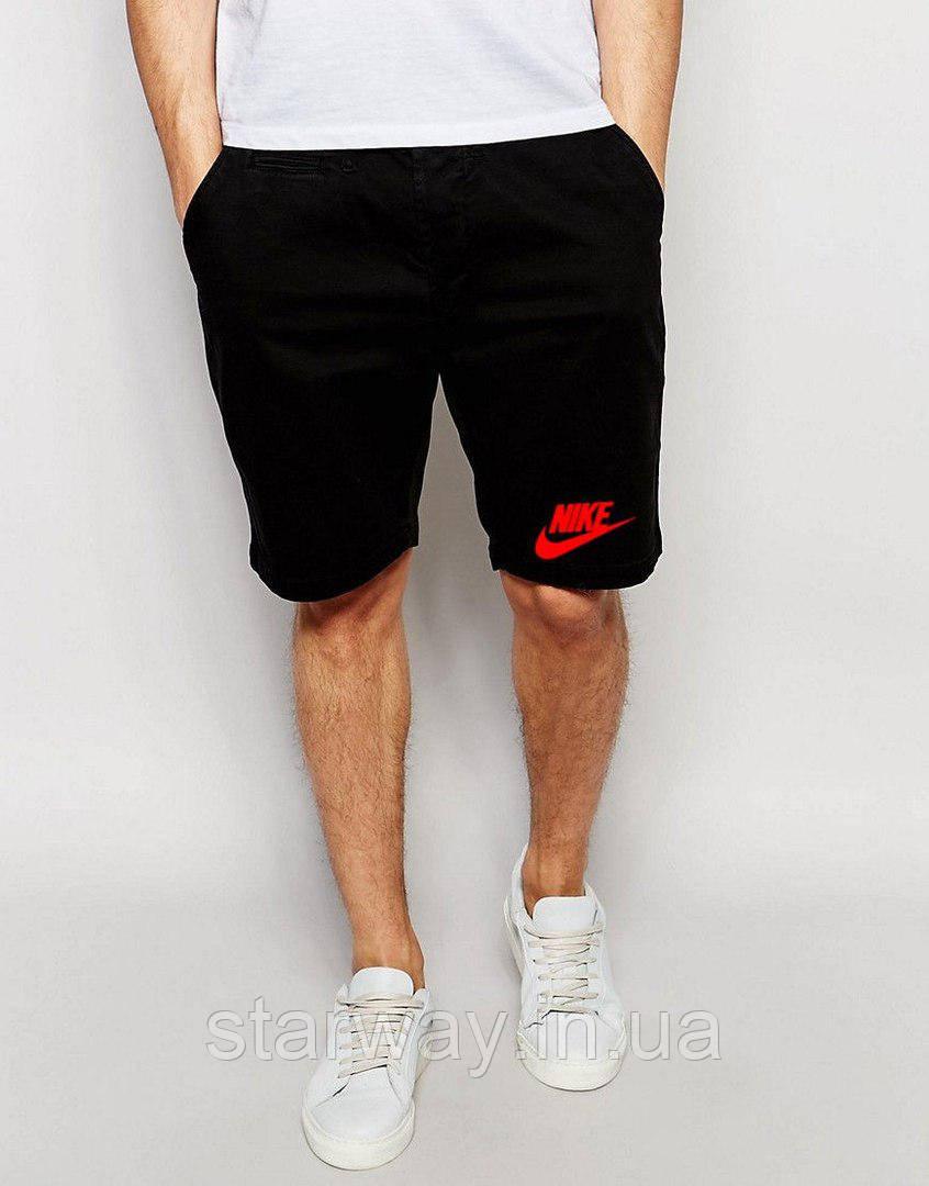 Шорты стильные | Красный принт Nike мелкое лого