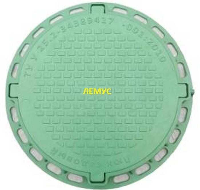 Люк садовый пластиковый зеленый без  замка