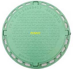 Люк садовый пластиковый зеленый с замком