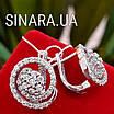 Серебряные серьги с камнями - Серьги серебро с камнями - Серьги с камнями серебро, фото 2