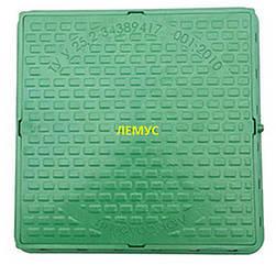 Люк квадратный пластиковый  зеленый без запорного устройства