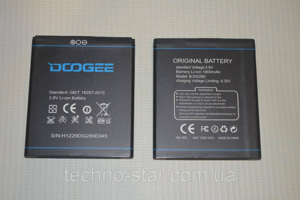 Оригинальный аккумулятор (АКБ, батарея) B-DG280 для Doogee Leo DG280 1800mAh