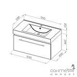 Комплект мебели для ванной комнаты Aquaform Decora 90, фото 3
