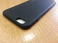 Черный матовый силиконовый чехол для iPhone 6/6s
