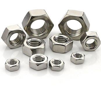 Гайка нержавеющая М2,5 DIN 934 (ГОСТ 5915-70, ГОСТ 5927-70) сталь А2 и А4, фото 2