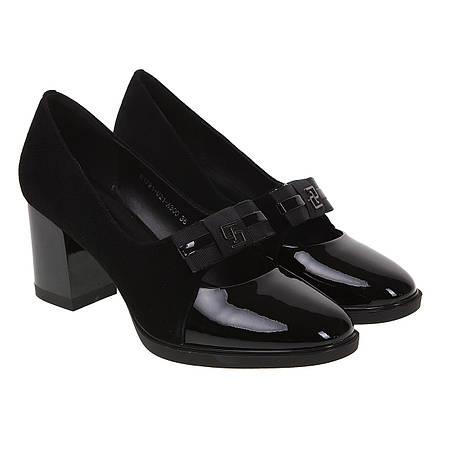 16ecd8b50b93 Туфли женские Polann (на каблуке, классические, сочетание замши и лакированной  кожи)