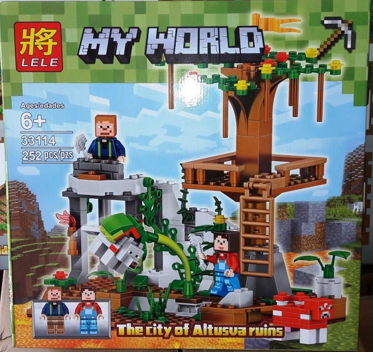 Конструктор Lele 33114 Майнкрафт Смотровая площадка на дереве (аналог Lego Minecraft)