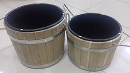 Деревянные изделия для бани (черпаки, ведра, шайки)