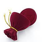 Футляр под кольцо Мешок бордо, фото 3