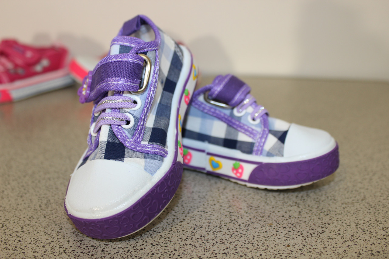 """Кеды детские """" Цветочек """"145 фиолетовый"""