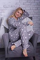 Байковая пижама серая П308