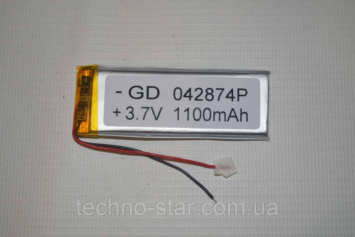 Универсальный аккумулятор (АКБ, батарея) 3.7V 1100mAh (4.0*28*74mm)