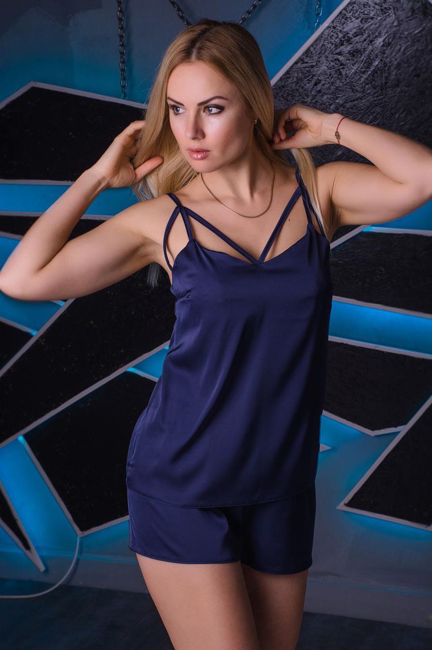 Майка + шорты MiaNaGreen П023 Темно-синий