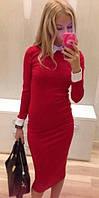 Платье женское с прямой юбкой ниже колен (К3181)
