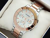 Женские часы Pandora c дополнительными циферблатами, серебро-розовое золото, фото 1